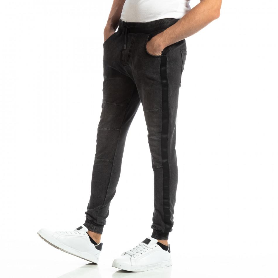 Jogger pentru bărbați în culoare denim negru it261018-48