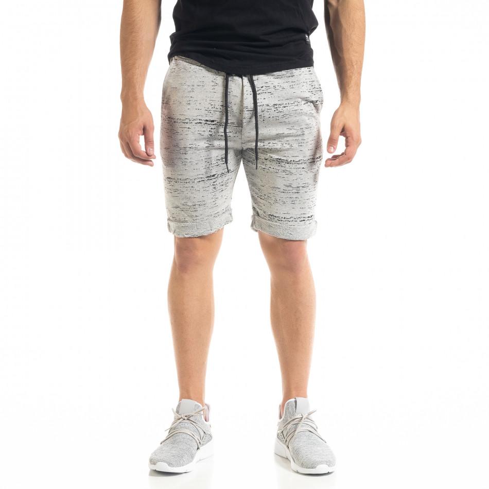 Pantaloni scurți bărbați Alpini Firenze gri it050620-17