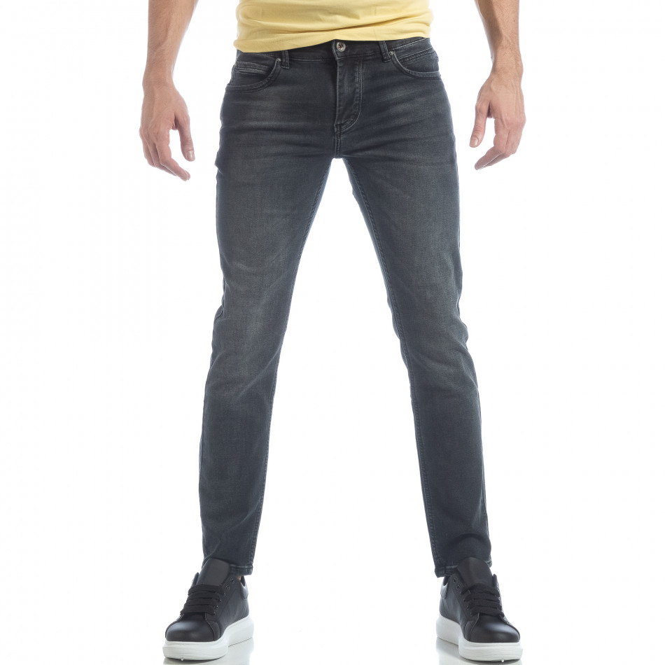 Blugi de bărbați gri model clasic it040219-15