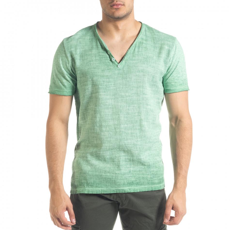 Tricou bărbați Ficko verde it240420-5