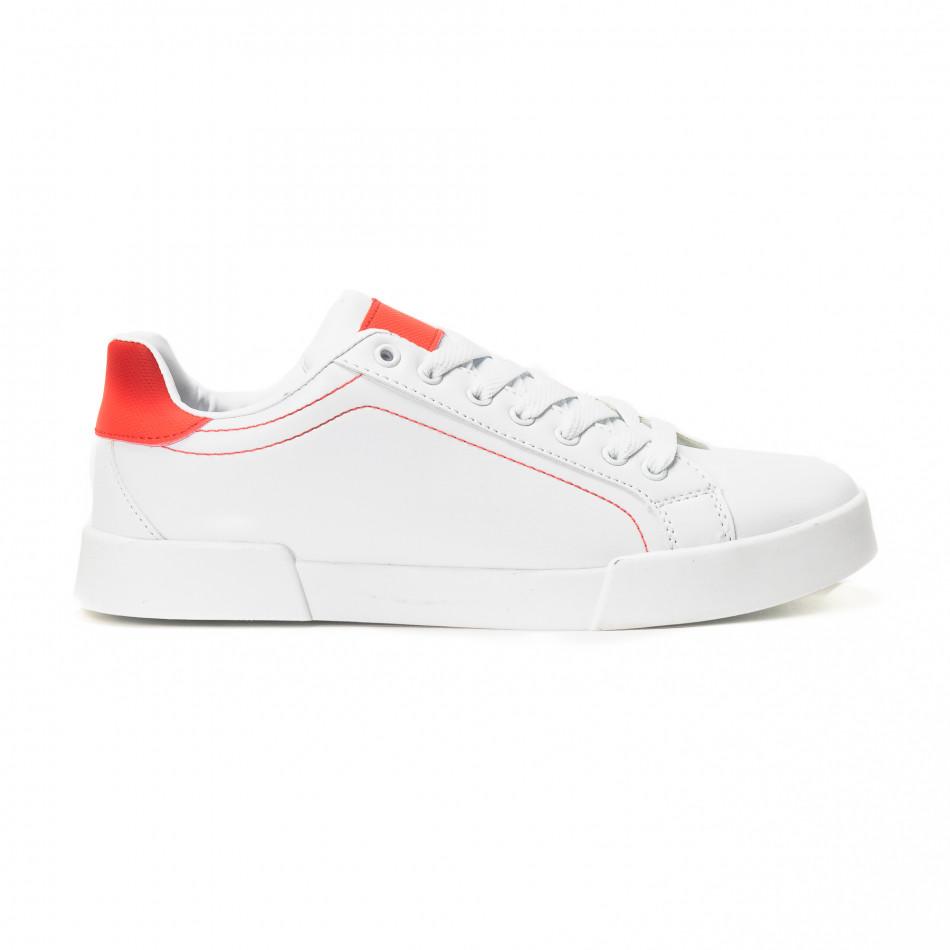 Teniși albi Basic cu părți roșii pentru bărbați  it150818-23