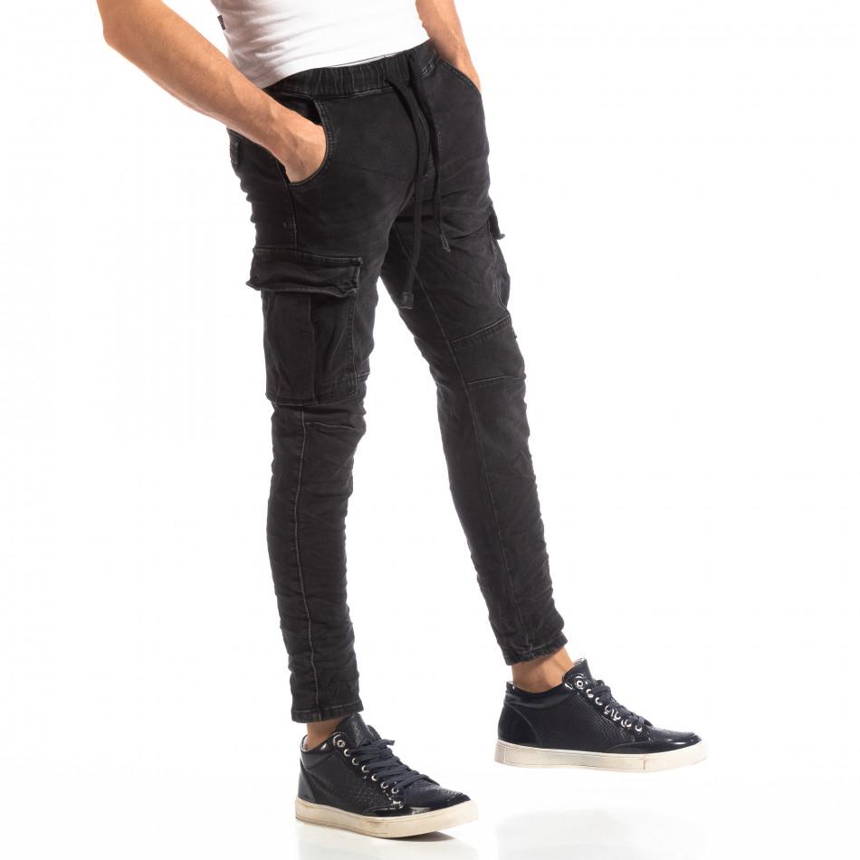Cargo Jeans în negru pentru bărbați it261018-17