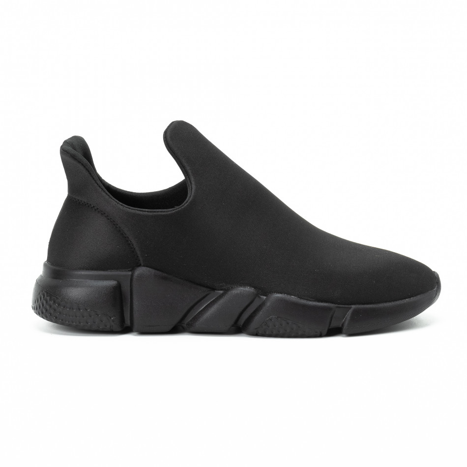 Adidași slip-on All black din neopren pentru bărbați it140918-15