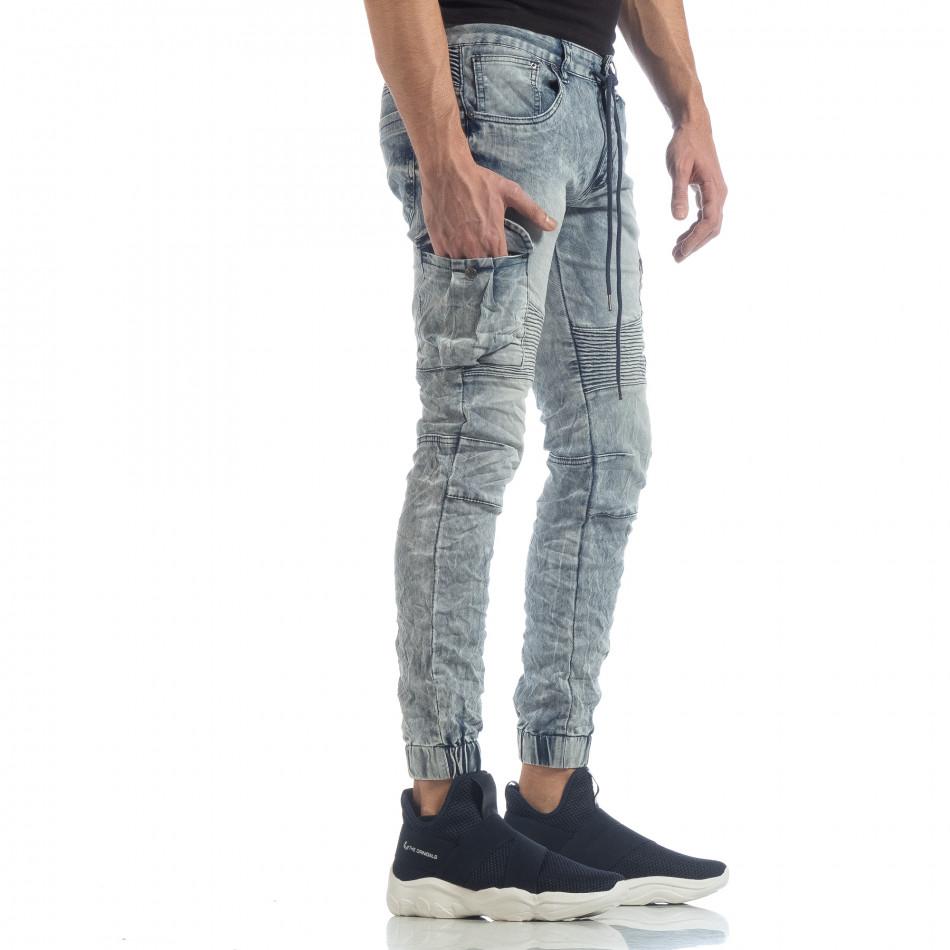 Washed Cargo Jeans pentru bărbați it040219-18