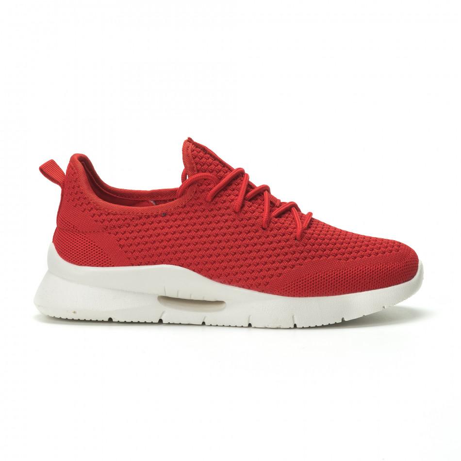Adidași pentru bărbați Hole design roșii model ușor it250119-21