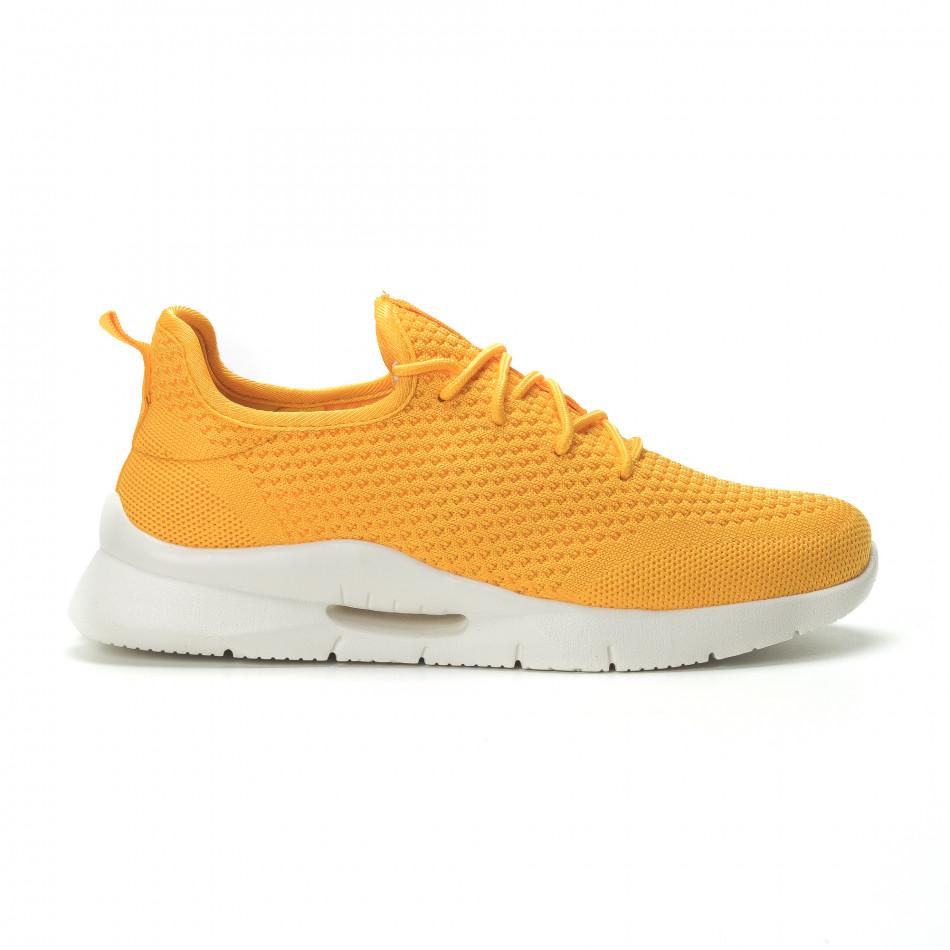 Adidași pentru bărbați Hole design galbeni model ușor it250119-25