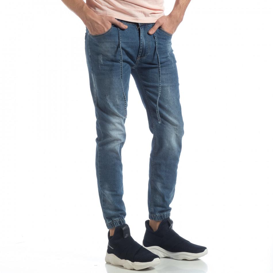 Jogger Jeans albastru pentru bărbați it040219-3