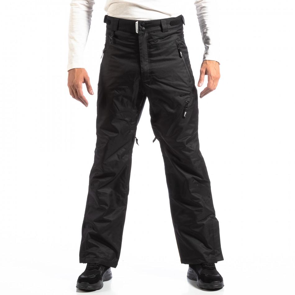 Pantaloni de schi pentru bărbați House în negru cu 5 buzunare lp290918-139
