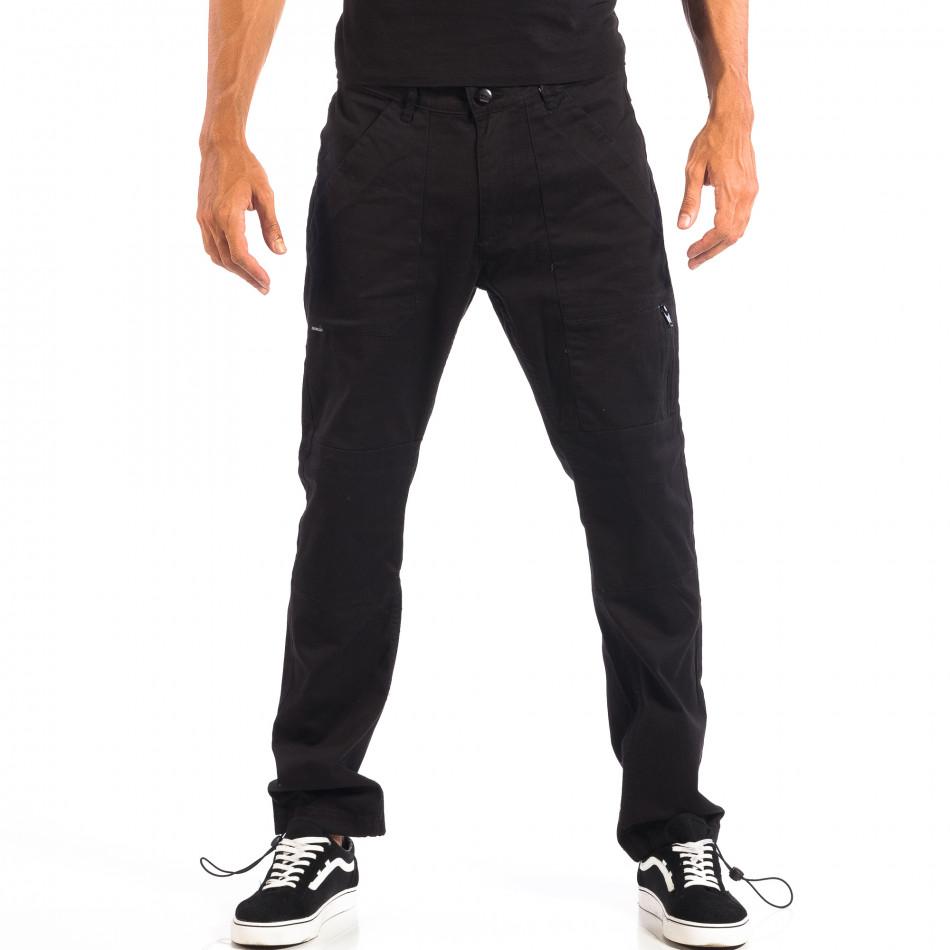 Pantaloni bărbați CROPP negri lp060818-93