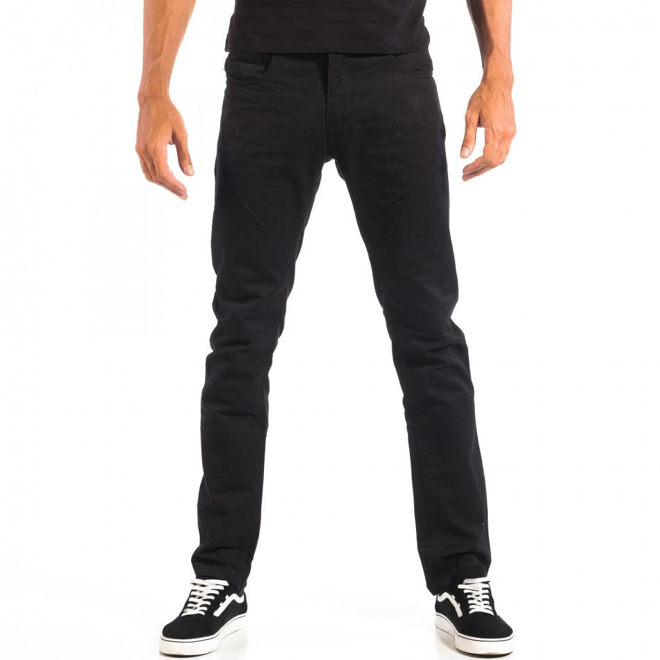 Pantaloni bărbați House negri lp060818-144