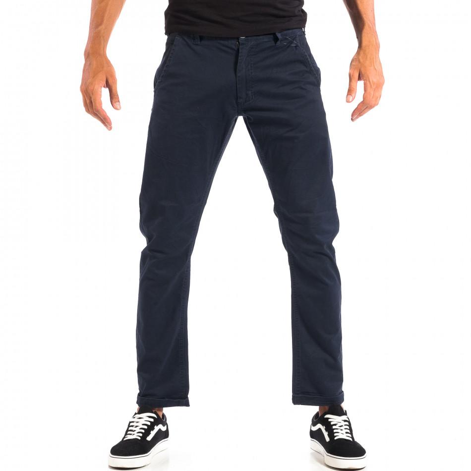 Pantaloni albaștri Chino pentru bărbați CROPP lp060818-113