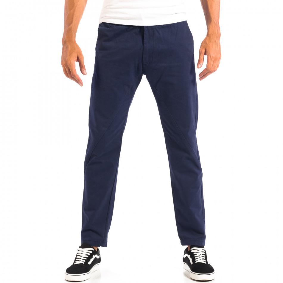 Pantaloni albaștri Chino pentru bărbați RESERVED lp060818-91