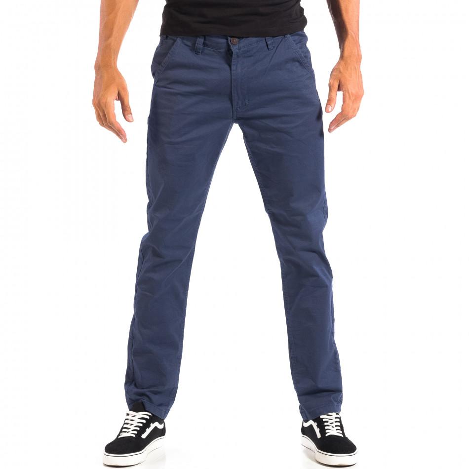 Pantaloni albaștri Chino pentru bărbați CROPP lp060818-100