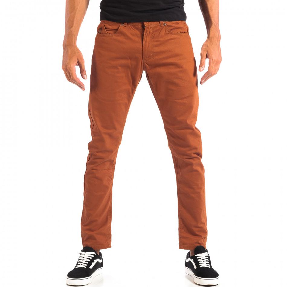 Pantaloni subțiri în camel pentru bărbați CROPP  lp060818-109