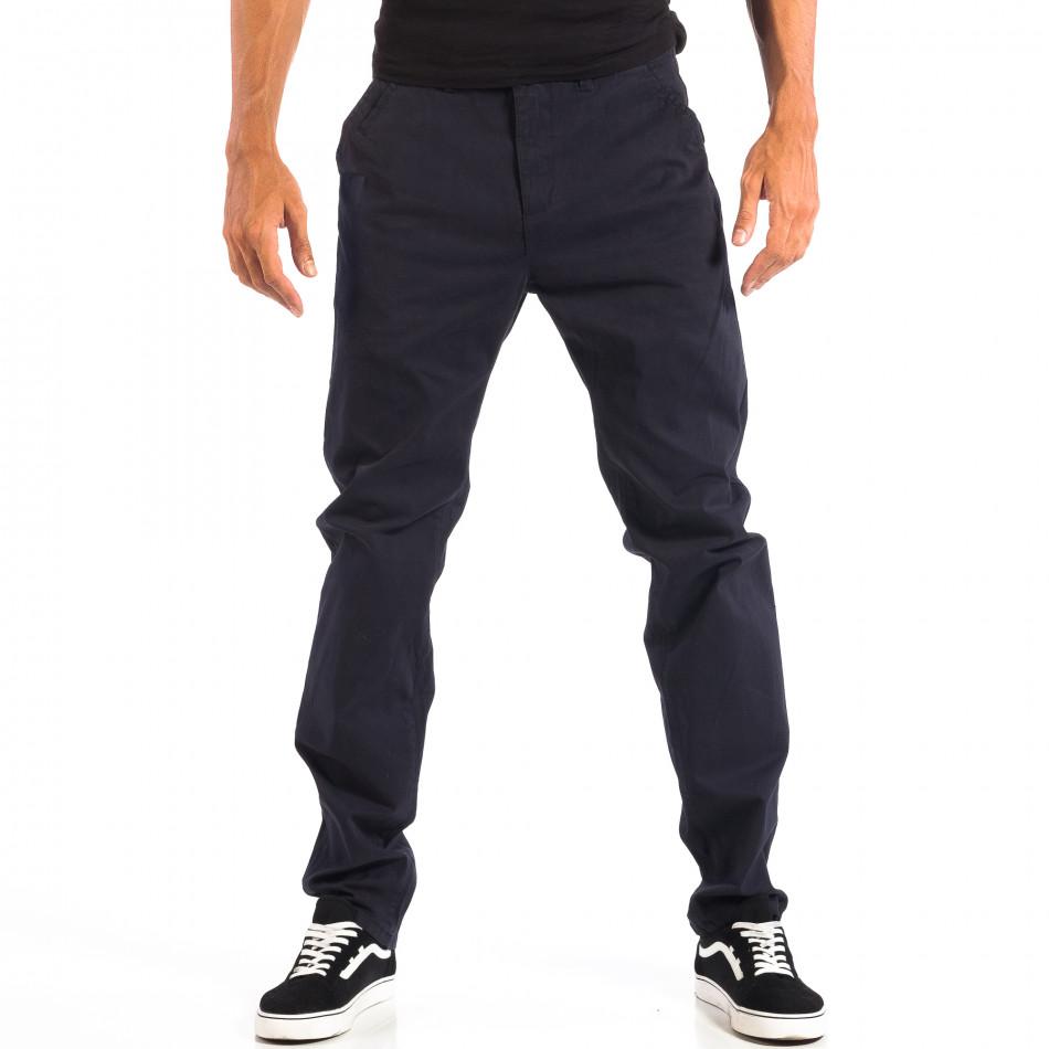Pantaloni albaștri Chino pentru bărbați House lp060818-95