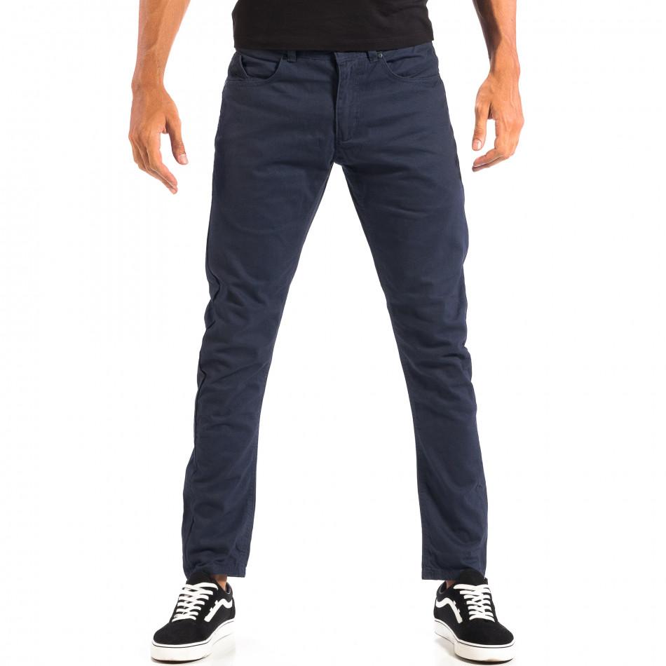 Pantaloni subțiri în albastru pentru bărbați CROPP lp060818-108