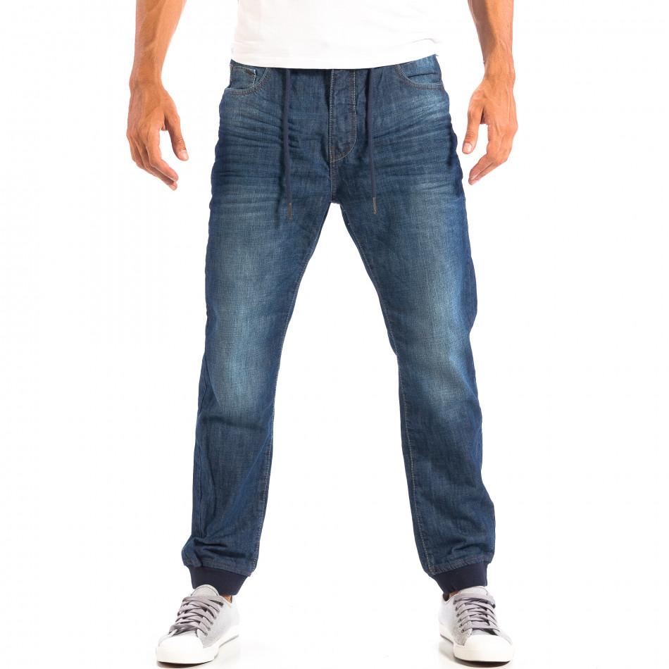 Blugi House Jogger albaștri pentru bărbați  lp060818-35