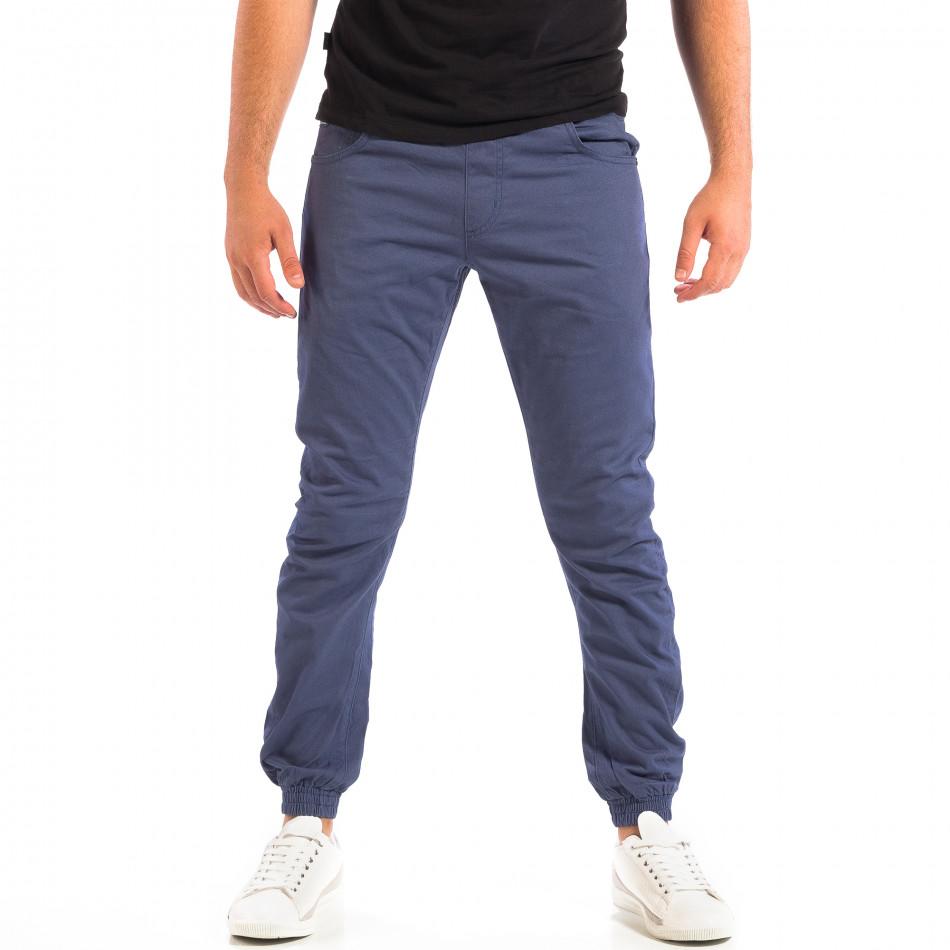 Pantaloni bărbați CROPP albaștri lp060818-136