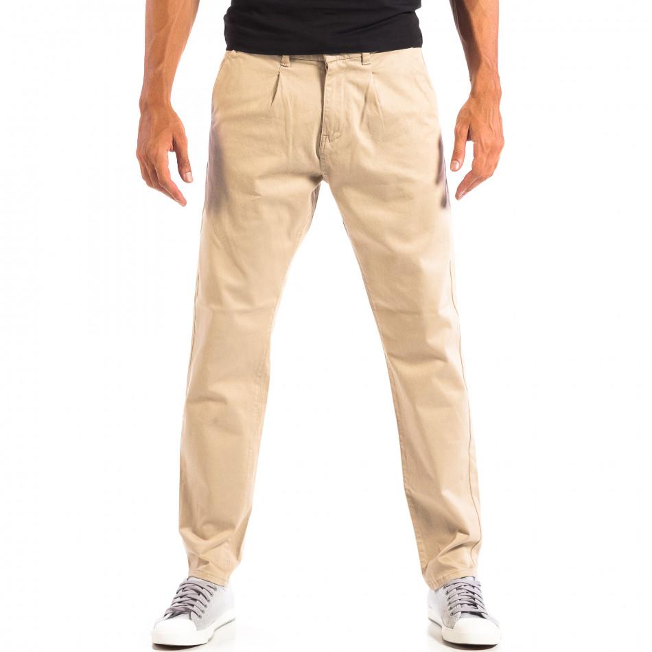 Pantaloni bărbați RESERVED bej lp060818-103