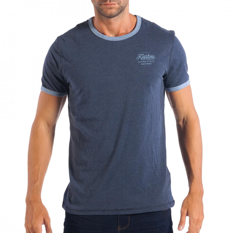 Tricou albastru pentru bărbați RESERVED  lp070818-10