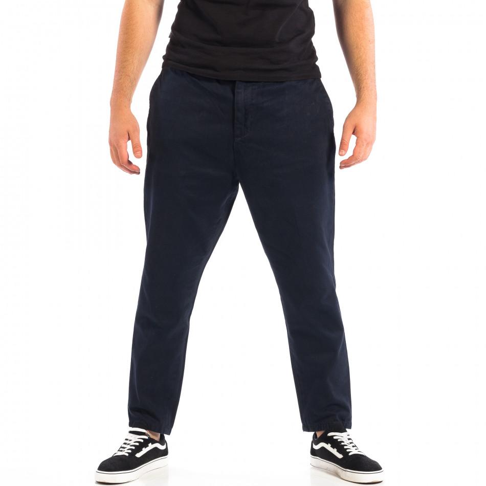 Pantaloni Cropped albaștri pentru bărbați RESERVED  lp060818-87