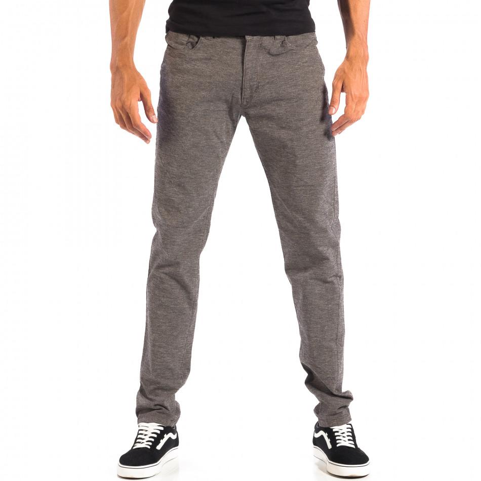 Pantaloni Slim pentru bărbați RESERVED în melanj gri lp060818-105