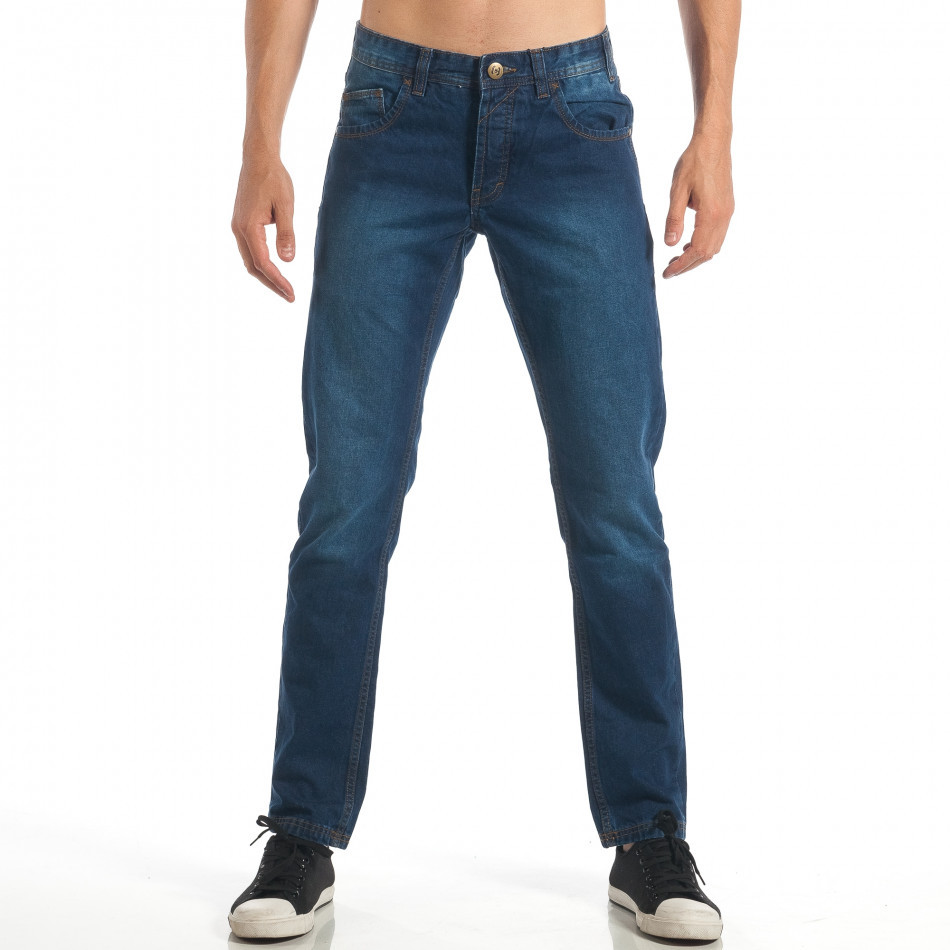 Blugi Straight fit albaștri pentru bărbați CROPP  lp060818-33