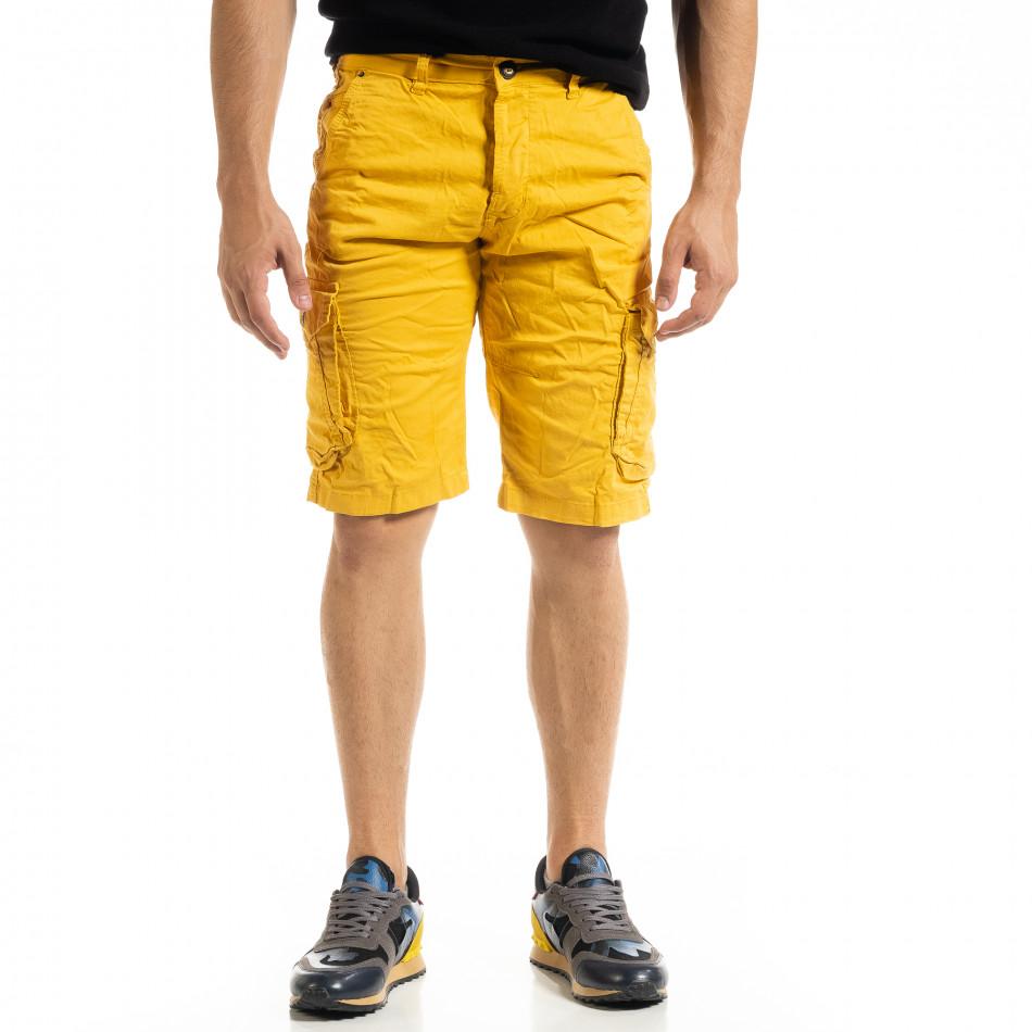 Pantaloni scurți bărbați Blackzi camel tr140520-10