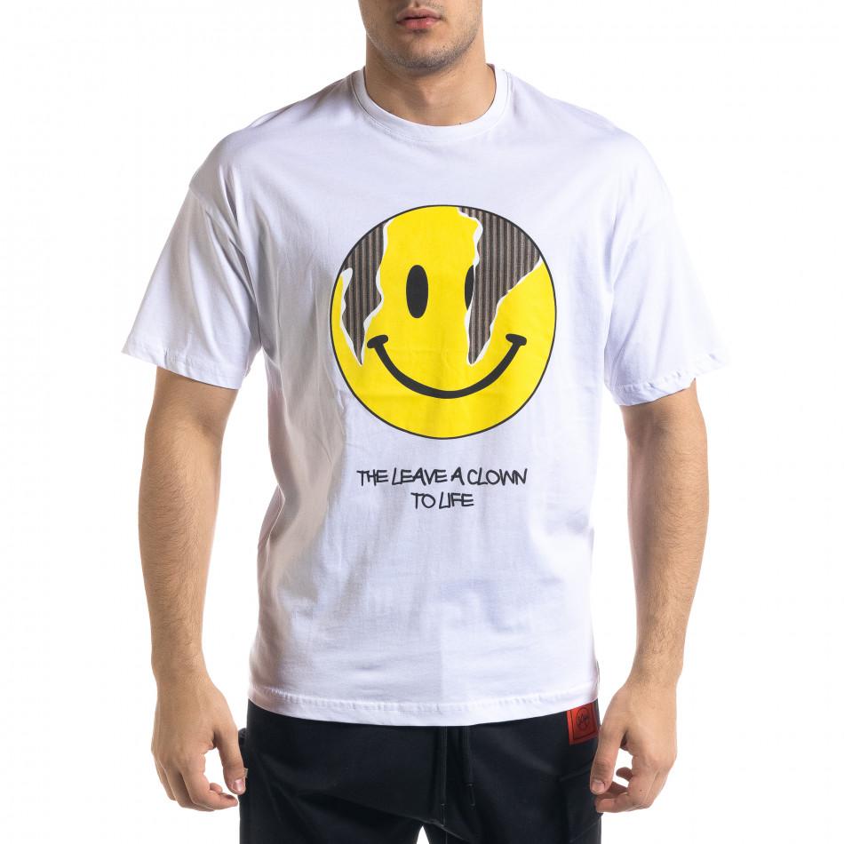 Tricou bărbați SAW alb tr110320-6