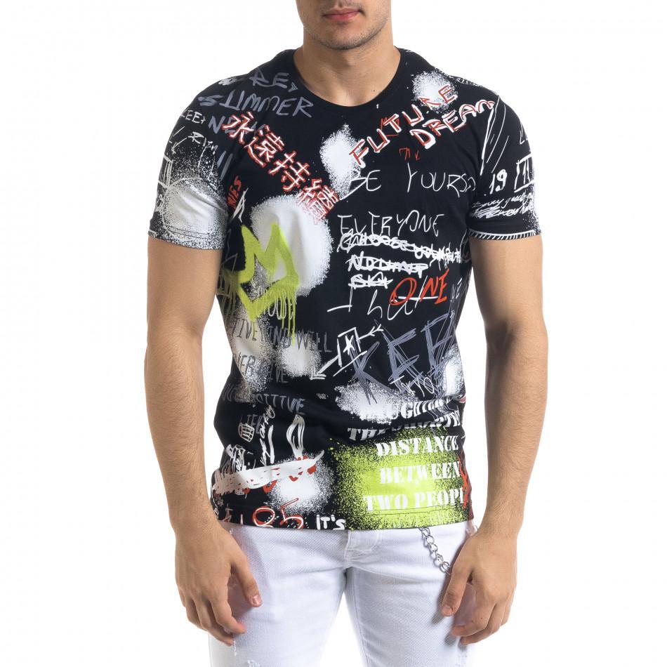 Tricou bărbați Breezy negru tr110320-50