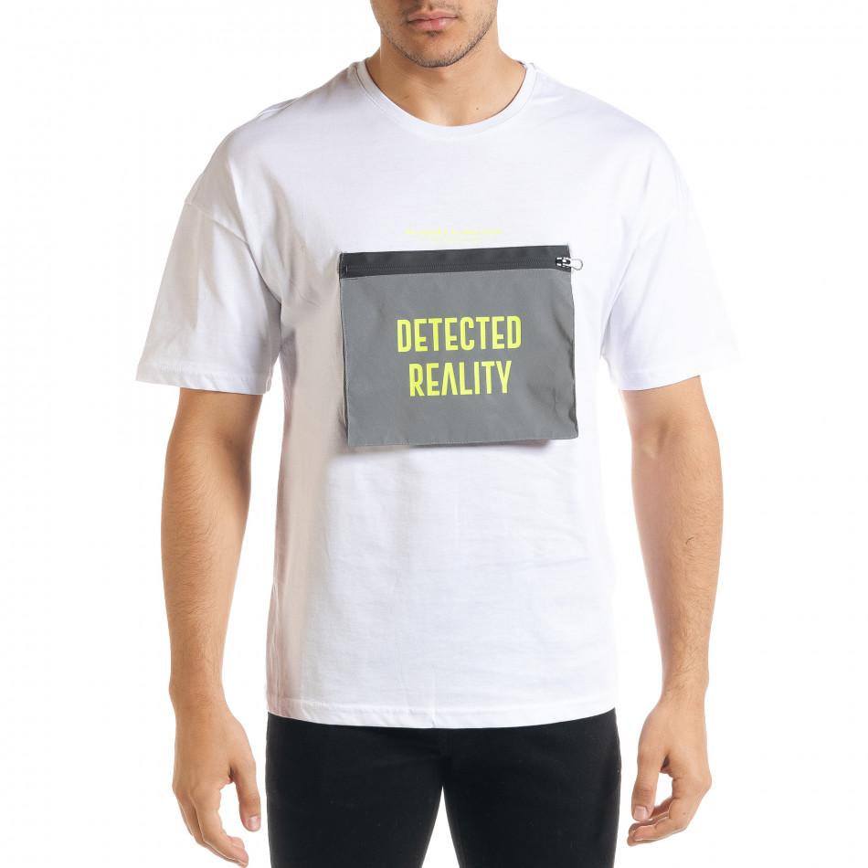 Tricou bărbați Breezy alb tr080520-6