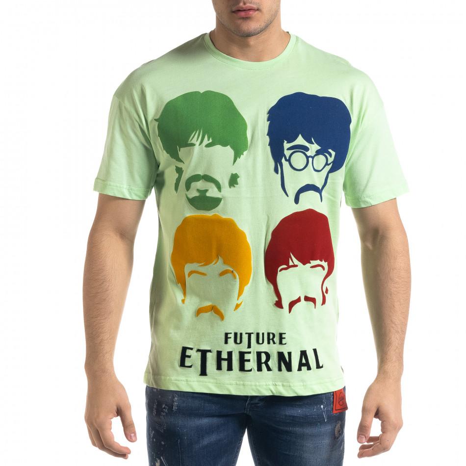 Tricou bărbați SAW verde tr110320-4