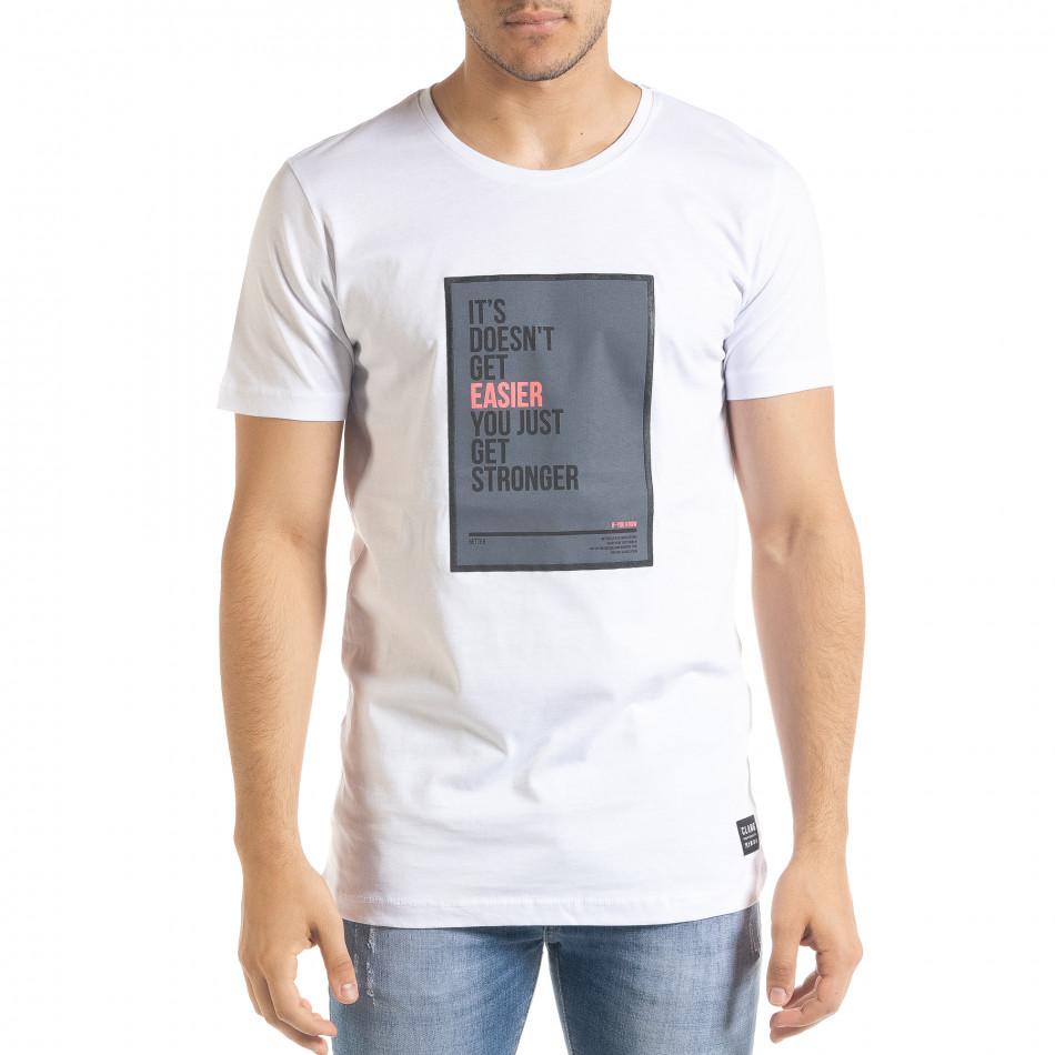 Tricou bărbați Clang alb tr080520-44
