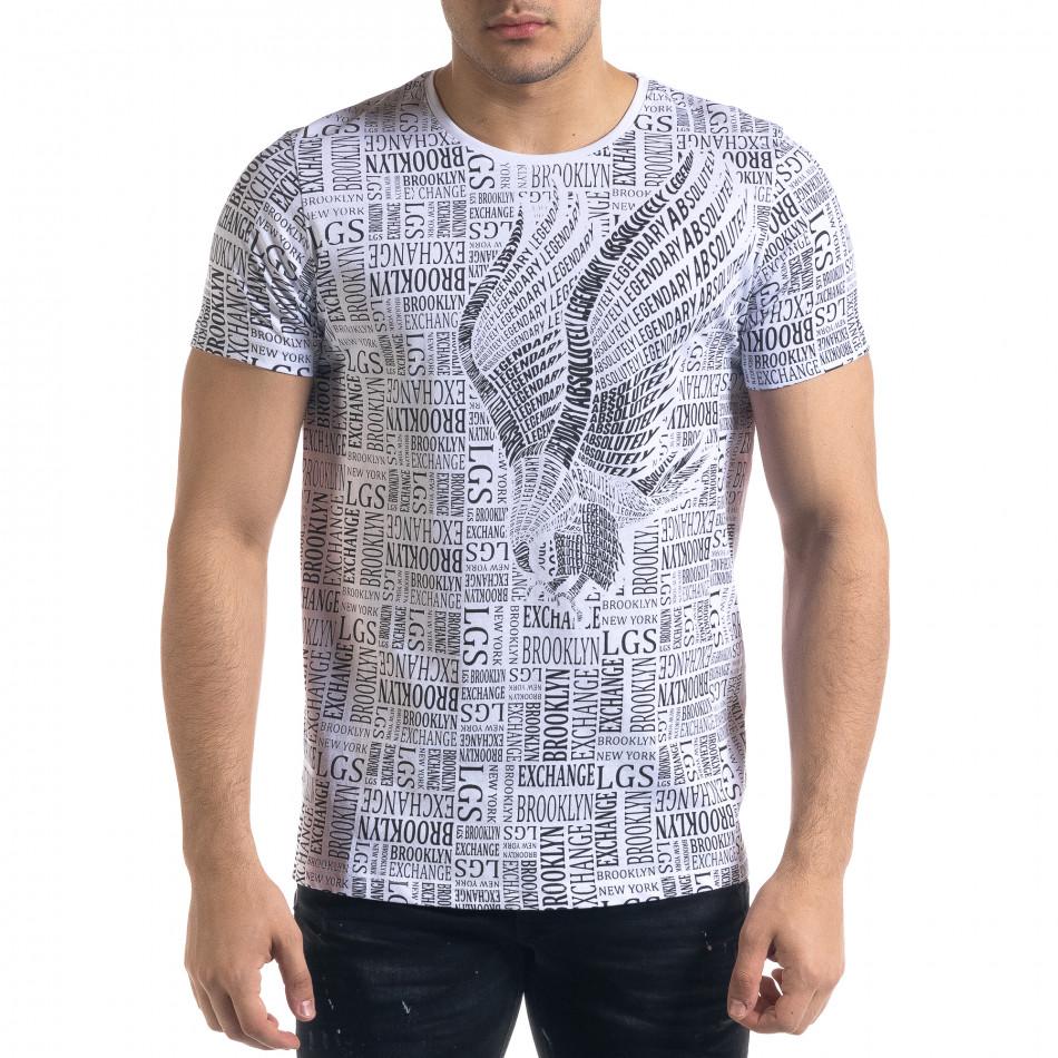 Tricou bărbați Lagos alb tr110320-33