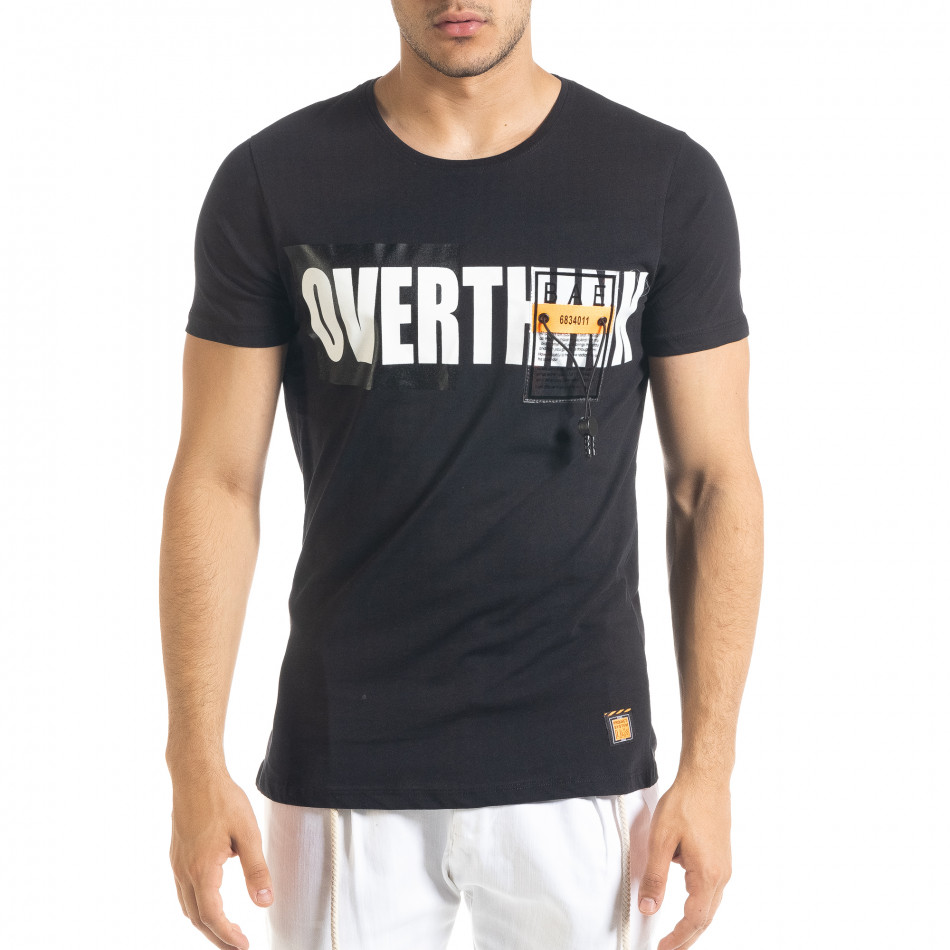 Tricou bărbați Lagos negru tr080520-31