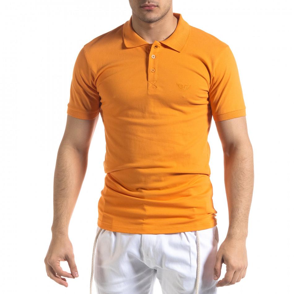 Tricou cu guler bărbați Lagos orange tr110320-15