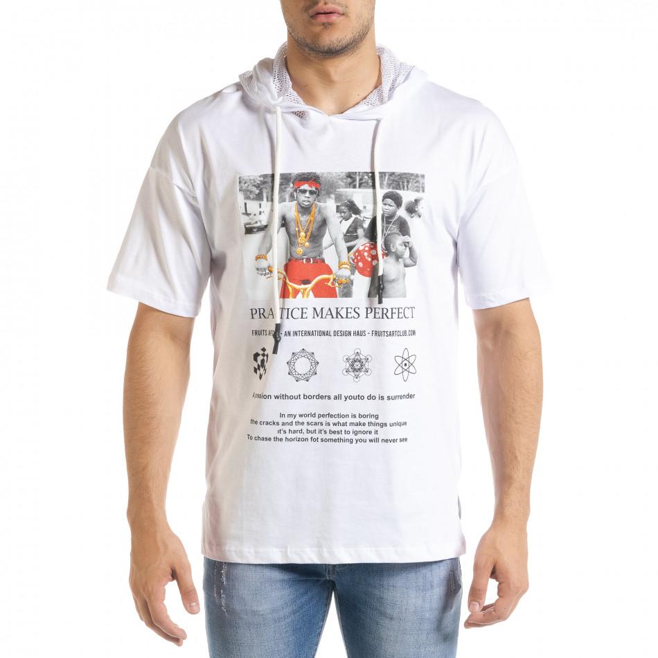 Tricou bărbați Breezy alb tr080520-12