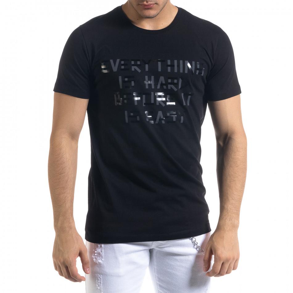 Tricou bărbați Clang negru tr110320-71
