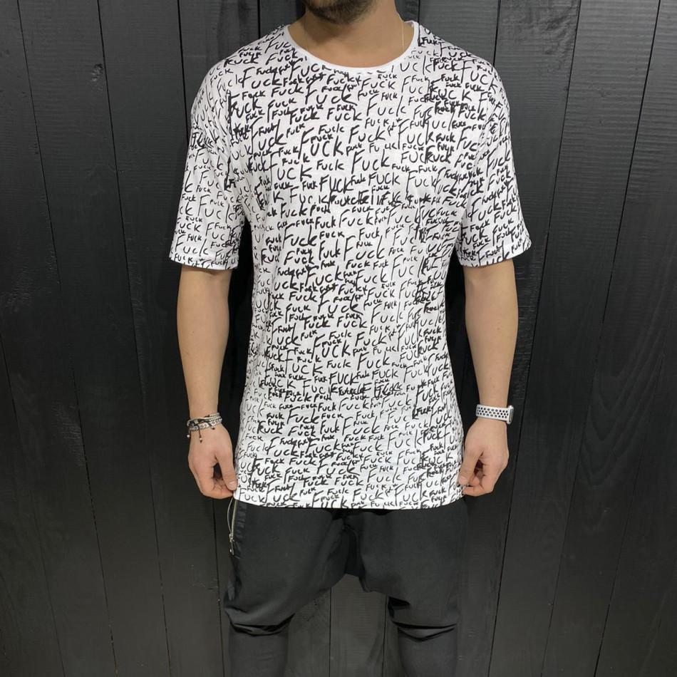 Tricou bărbați Black Island alb tr110320-88