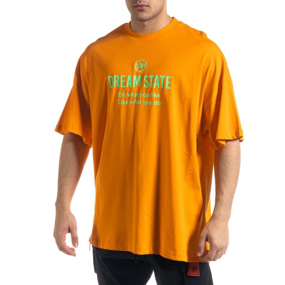Tricou bărbați SAW orange tr110320-1