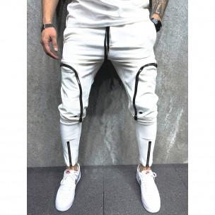 Pantaloni sport bărbați 2Y Premium alb