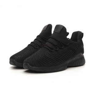 Adidași de bărbați All black ușori design Wave Bazaar Charm 2