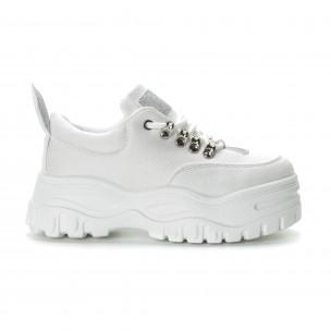 Pantofi sport albi pentru dama