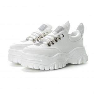 Pantofi sport albi pentru dama 2