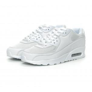 Pantofi sport de dama albi cu pernă de aer 2