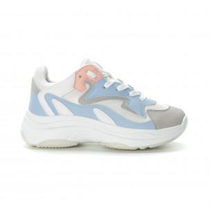 Pantofi sport de dama în 4 culori cu talpă înaltă