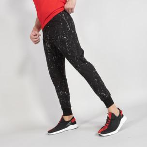 Pantaloni sport bărbați FM negru