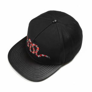 Șapcă neagră cu broderie