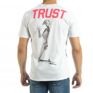 Tricou de bărbați alb Pray Trust  2