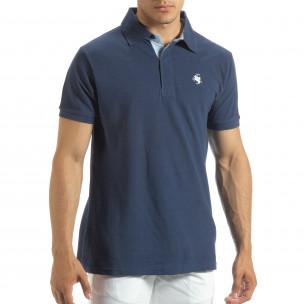 Polo shirt albastru pentru bărbați